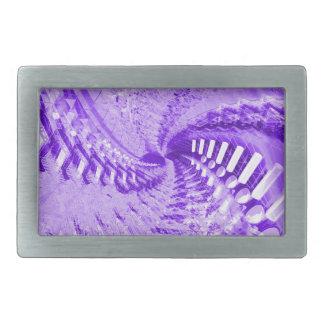 紫色の抽象芸術 長方形ベルトバックル