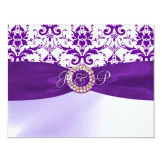 紫色の招待状 カード