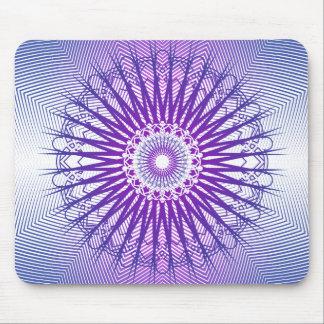 紫色の放射状パターン: ベクトルスケッチ: マウスパッド