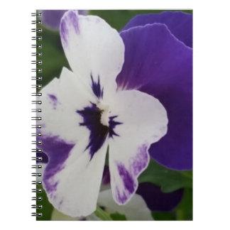 紫色の斑入りの花のノート(80ページB&W) ノートブック