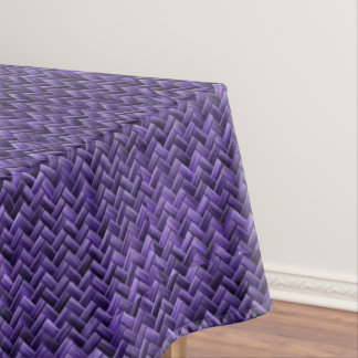 紫色の斜めの斜子織幾何学的なパターン テーブルクロス
