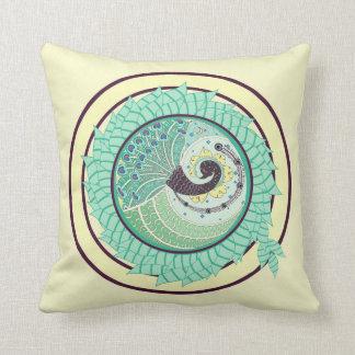 紫色の新しいの孔雀の芸術の装飾の枕 クッション
