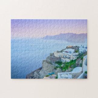 紫色の日没のパズル パズル