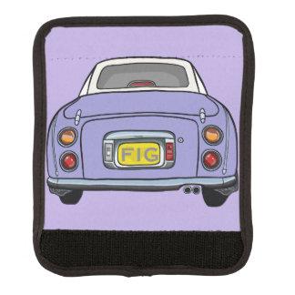 紫色の日産・フィガロ車のバッグのハンドルラップ ラゲッジ ハンドルラップ