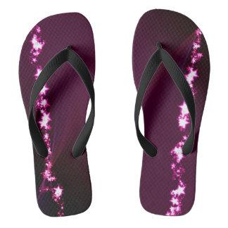 紫色の明るい星 ビーチサンダル