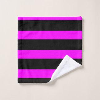 紫色の明るい赤紫色およびバーの洗浄布 ウォッシュタオル