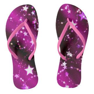 紫色の星が付いている星があって下さい ビーチサンダル