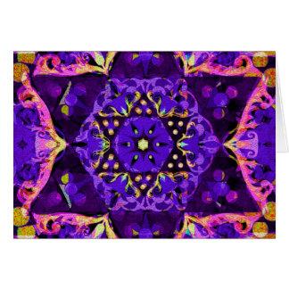 紫色の星の曼荼羅 カード