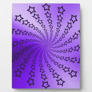紫色の星の螺線形 フォトプラーク