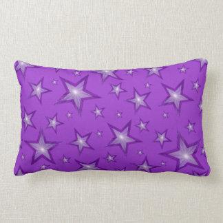 紫色の星は装飾用クッションの腰神経の紫色を印刷しました ランバークッション