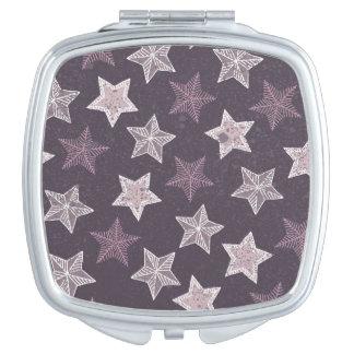 紫色の星パターン