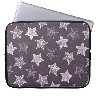 紫色の星パターン ラップトップスリーブ