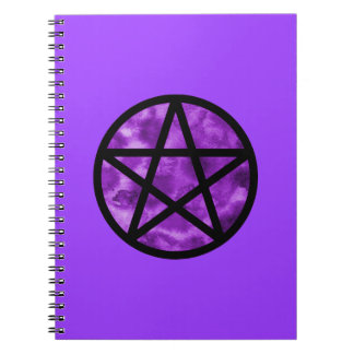 紫色の星形五角形のノート ノートブック