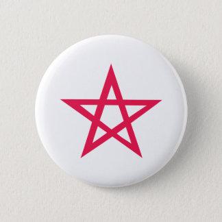 紫色の星形五角形の五芒星 缶バッジ