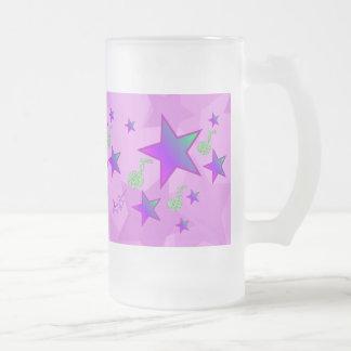 紫色の星明かりの子守唄 フロストグラスビールジョッキ