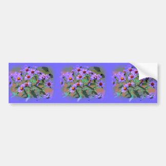 紫色の星状体のバンパーステッカー バンパーステッカー