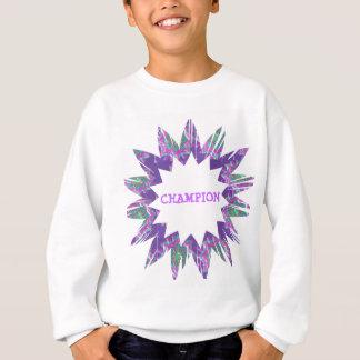 紫色の星:  チャンピオンの原稿 スウェットシャツ