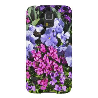 紫色の春の花のSamsungの銀河系S5の箱 Galaxy S5 ケース