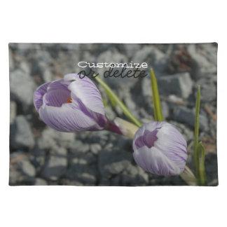 紫色の春; カスタマイズ可能 ランチョンマット