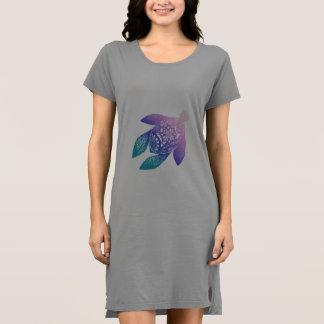 紫色の曼荼羅のカメ ドレス