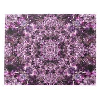 紫色の曼荼羅 ノートパッド