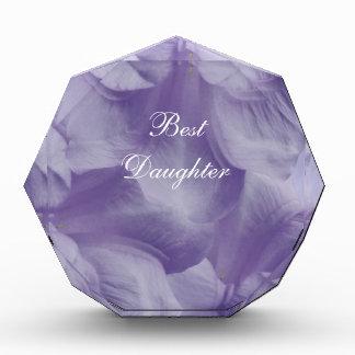 紫色の月の花の花びら 表彰盾