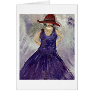 紫色の服のメッセージカード ノートカード