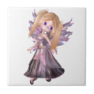 紫色の服の漫画の妖精のプリンセス タイル