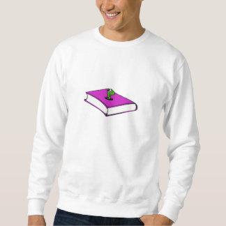 紫色の本みみず スウェットシャツ