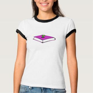 紫色の本みみず Tシャツ
