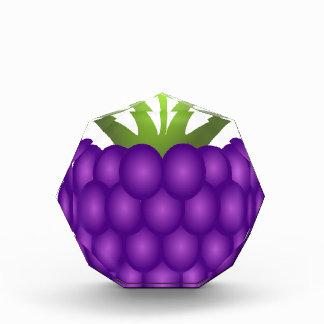 紫色の果実の刺激を受けたなラズベリー 表彰盾