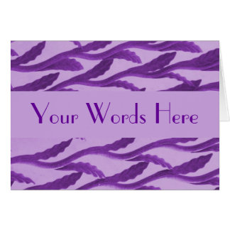 紫色の枝 カード