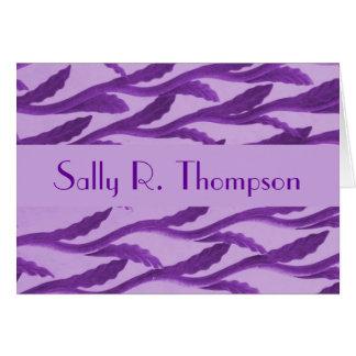 紫色の枝 ノートカード