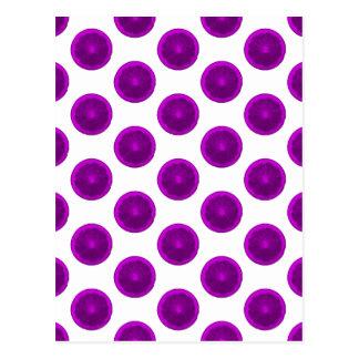 紫色の柑橘類の切れの水玉模様 ポストカード