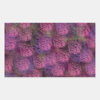紫色の柔らかい質のコレクション 長方形シール