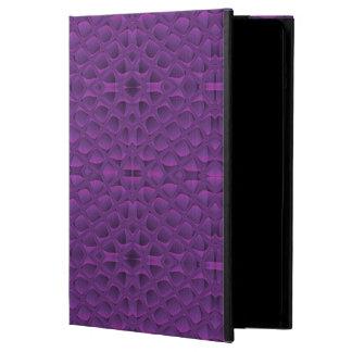 紫色の栄光のSnakeskinの刺激を受けたなパターン iPad Airケース