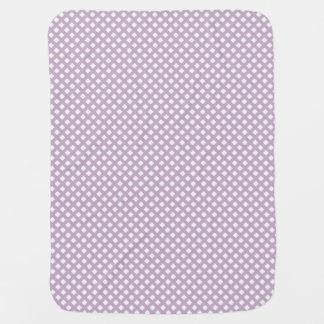 紫色の格子ベビーブランケット ベビー ブランケット