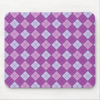 紫色の格子縞のマウスパッド マウスパッド