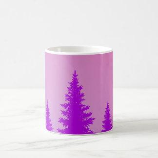 紫色の森林マグ コーヒーマグカップ