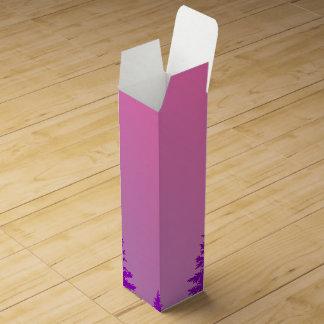 紫色の森林ワイン用化粧箱 ワインギフトボックス