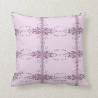 紫色の植物相のつる植物の枕 クッション