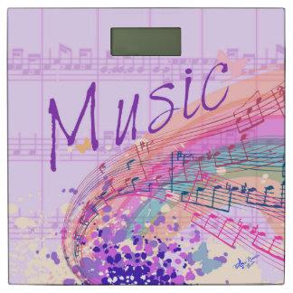 紫色の楽譜Colorsplash 体重計