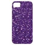 紫色の模造のなグリッターの穹窖のiPhone 5の箱 Case-Mate iPhone 5 ケース