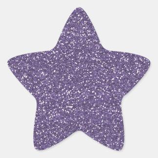 紫色の模造のなグリッター 星シール