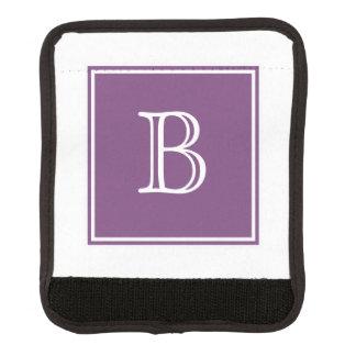 紫色の正方形のモノグラムのラゲージハンドルラップ ラゲッジ ハンドルラップ