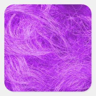紫色の毛皮 スクエアシール