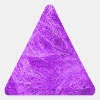 紫色の毛皮 三角形シール