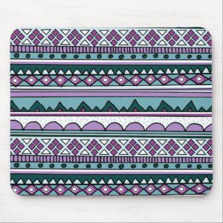 紫色の民族パターン マウスパッド