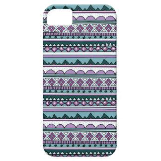 紫色の民族パターン iPhone 5 カバー