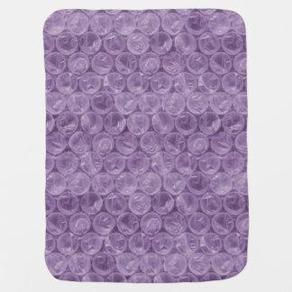 紫色の気泡緩衝材 ベビー ブランケット